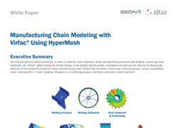 White Paper: Manufacturing Chain Modeling with Virfac® Using HyperMesh