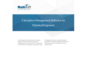 White Paper: Calculation Management Software for Chemical Engineers