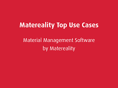 Top Use Cases: Matereality Workgroup Material DatabasePro