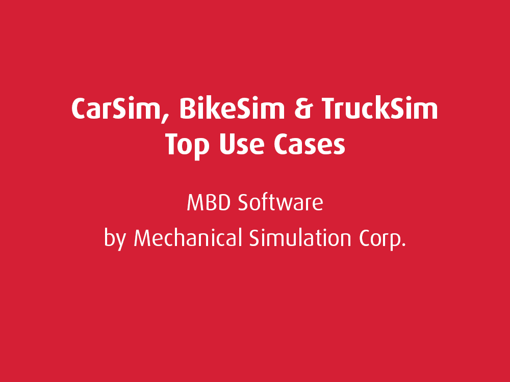 Top Use Cases: Mechanical Simulation