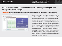 Case Study: NASA's ModelCenter® Environment Solves Challenges of Supersonic Transport Aircraft Design