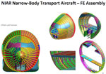 Development of a Global Detailed Commercial Aircraft Finite Element Model