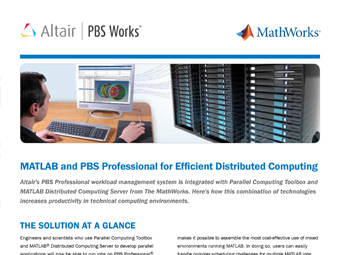 MATLAB and PBS Professional for Efficient Distributed Computing