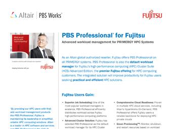 PBS Professional for Fujitsu Users
