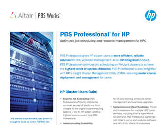 PBS Professional for HP Users