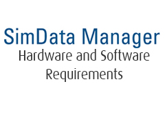 SimData Manager Hardware and Software Requirements