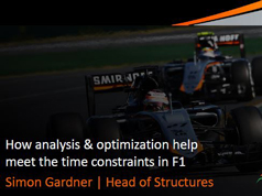UK ATC 2015: How Analysis & Optimisation Help Meet the Time Consstraints in F1