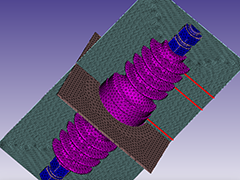 Electrostatic Simulation of a High Voltage Bushing