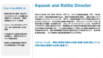 異音と低級音対策 Squeak and Rattle Director