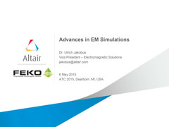 Advances in EM Simulations