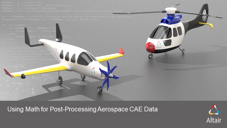 Using Math for Post-Processing Aerospace CAE Data