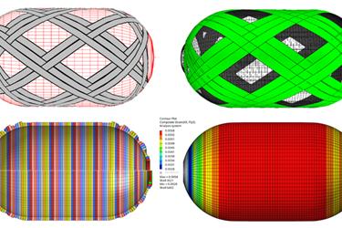 Composite Pressure Vessel Design and Simulation