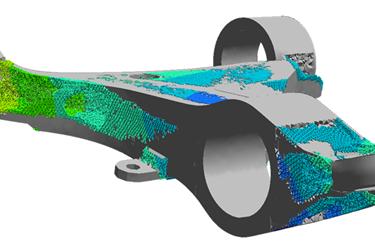 Efficient Simulation of 3D Printed Lattice Structures