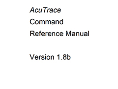 AcuTrace Command Reference Manual