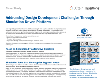 Addressing Design Development Challenges Through Simulation Driven Platform