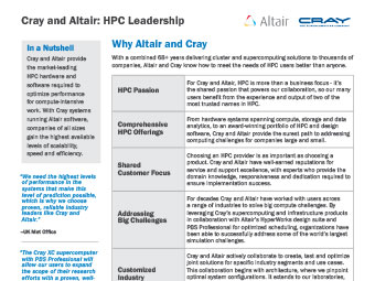 Why Altair and Cray for HPC?