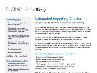 Automated Reporting Director Datasheet