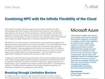 Combining HPC with the Infinite Flexibility of the Cloud
