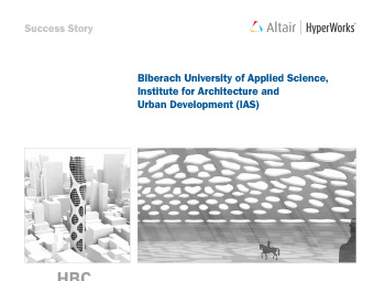Biberach University of Applied Science, Institute for Architecture and Urban Development