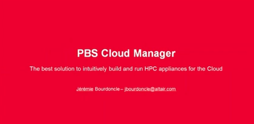 Webinar: Introduction to PBS Cloud Manager