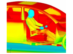Coupled thermal, structural, and CFD simulation using RadTherm and HyperWorks