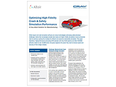 Benchmark Study: Optimizing High Fidelity Crash & Safety Simulation Performance