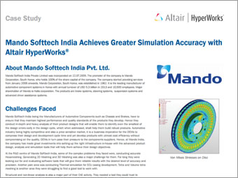 Mando Softtech India Achieves Greater Simulation Accuracy with Altair HyperWorks®