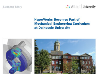 HyperWorks Becomes Part of Mechanical Engineering Curriculum at Dalhousie University
