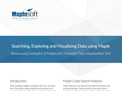 White Paper: Searching, Exploring and Visualizing Data using Maple
