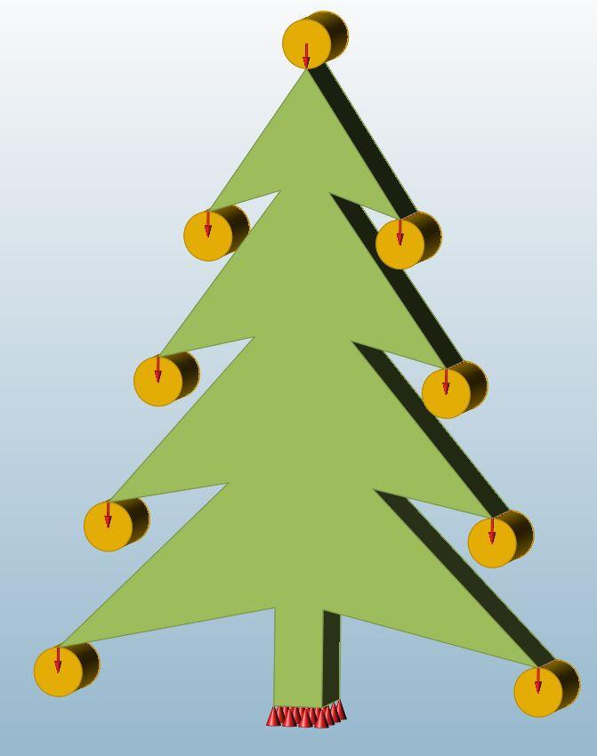 Inspire Modell eines optimalen Weihnachtsbaumes