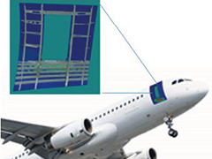 Progressive Failure Analysis on Aircraft Door Surround During Ground Service Equipment Impact