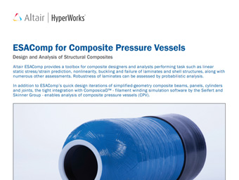 ESAComp for Composite Pressure Vessels