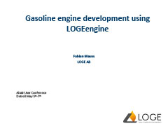 Gasoline engine development using  LOGEengine
