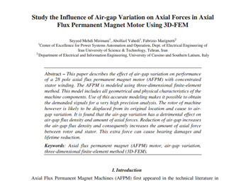 Study the Influence of Air-gap Variation on Axial Forces in Axial Flux Permanent Magnet Motor Using 3D-FEM
