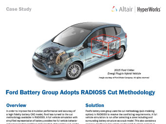 Ford Battery Group Adopts RADIOSS Cut Methodology