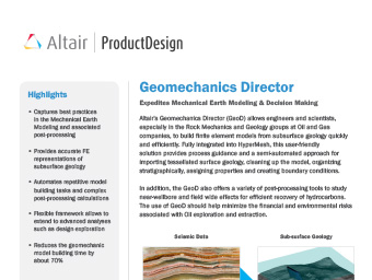 Geomechanics Director Datasheet