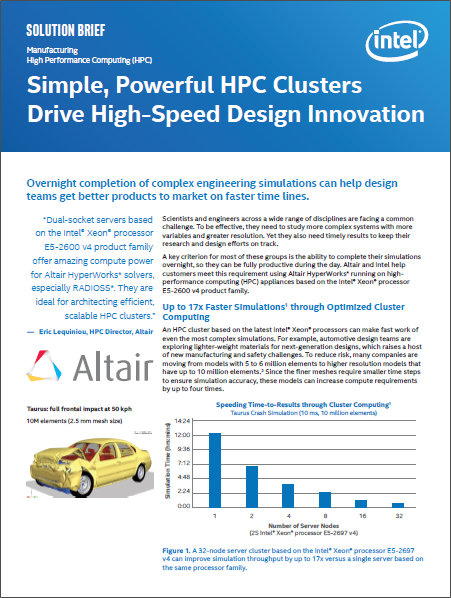 Simple, Powerful HPC Clusters Drive High-Speed Design Innovation