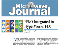 FEKO Integrated in HyperWorks 14.0