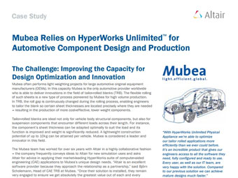 Mubea Relies on HyperWorks Unlimited™ for Automotive Component Design and Production