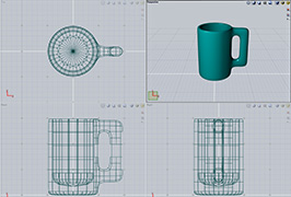 Evolveのマグのポリメッシュモデル