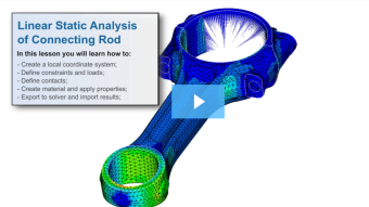 SimLab Tutorials - Linear Static Analysis of Connecting Rod