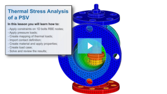 SimLab Tutorials - Thermal Stress Analysis_Safety Valve Assembly