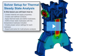 SimLab Tutorials - Solver Setup for Thermal Steady State Analysis