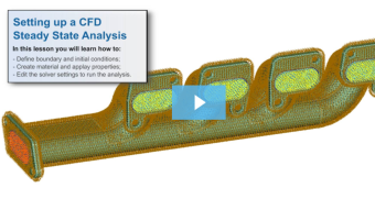 SimLab Tutorials - Setting up a CFD Steady State Analysis - Manifold