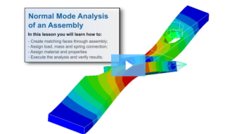 SimLab Tutorials - Normal Mode Analysis of an Assembly