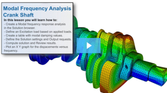 SimLab Tutorials - Modal Frequency Response Analysis of a Crank Shaft