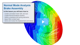 SimLab Tutorials - Normal Mode Analysis - Brake Assembly