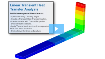 SimLab Tutorials - Linear Transient Heat Transfer Analysis