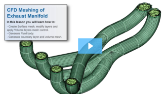 SimLab Tutorials - CFD Meshing of an Exhaust Manifold
