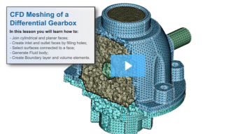 SimLab Tutorials - CFD Meshing Of a Differential Gearbox
